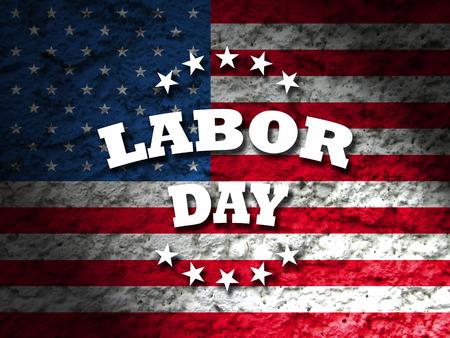 アメリカ労働者の日アメリカの国旗背景 写真素材