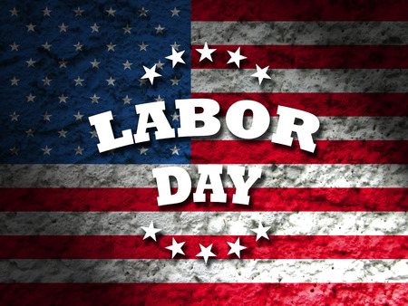 labour: america labor day american flag background Stock Photo