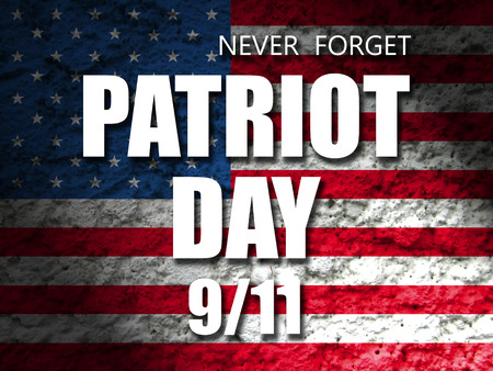 usa patriot day september 11 banner Imagens