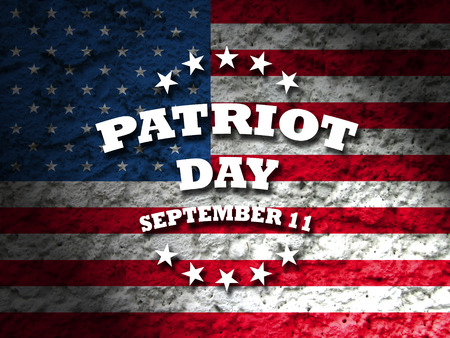 america patriot day september 11 card american flag background Imagens