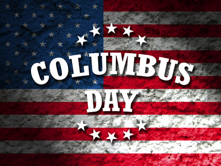 christopher columbus: america columbus day card american flag grunge background