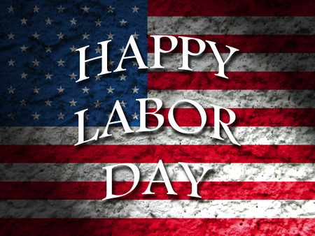 labour: america happy labor day american flag background