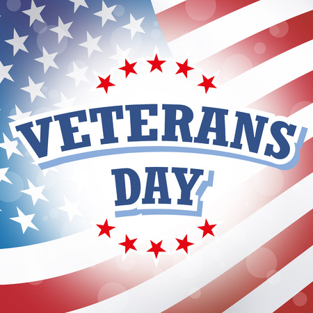 veterans day card american flag background