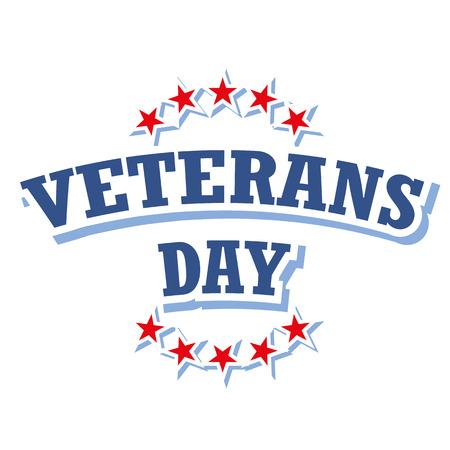 veterans day: veterans day logo vector isolated on white background Illustration