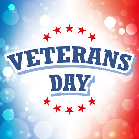 veterans day card vector