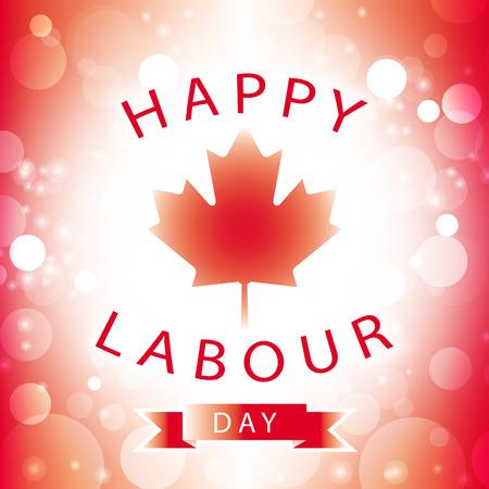 캐나다 행복한 노동 날 인사말 카드 추상적 인 플래그 배경 벡터