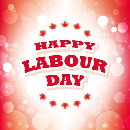 幸せな労働者の日グリーティング カード抽象的な旗の背景ベクトル