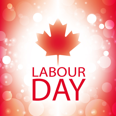 labor: canada labour day greeting card abstract flag background vector