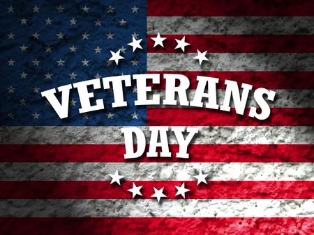 veterans: veterans day card american flag grunge background Stock Photo