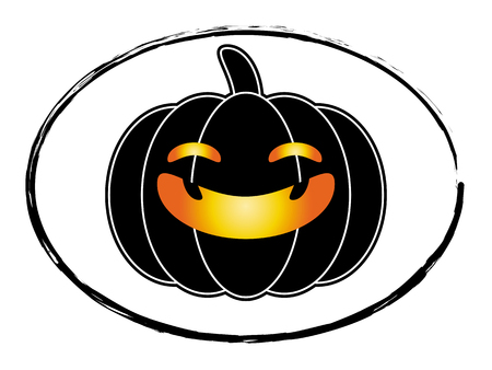 jack o  lanterns: halloween pumpkin black cartoon stamp