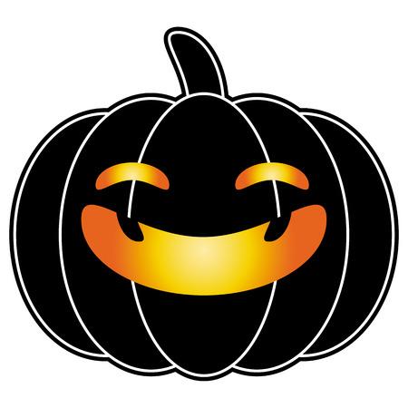 jack o  lanterns: halloween pumpkin black cartoon  Illustration