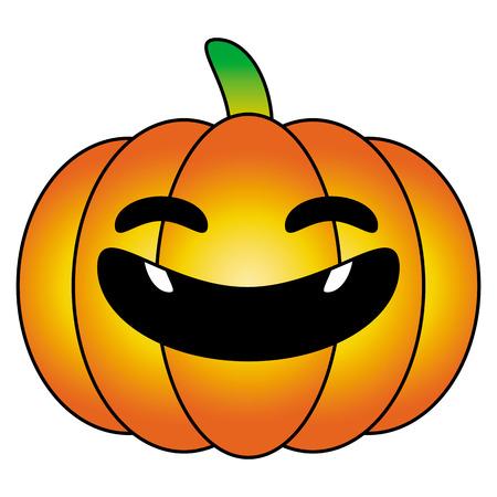 party cartoon: halloween pumpkin orange cartoon