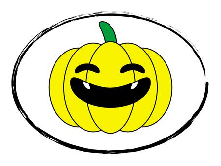 jack o  lanterns: halloween pumpkin yellow cartoon stamp logo