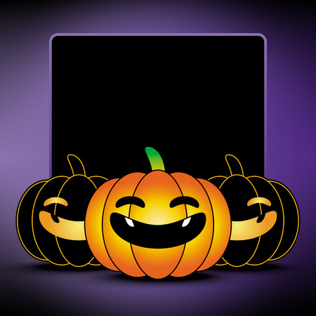 halloween background: halloween pumpkin background, frame, border illustration