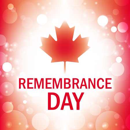 anzac: remembrance day canada greeting card abstract canadian flag background vector Illustration