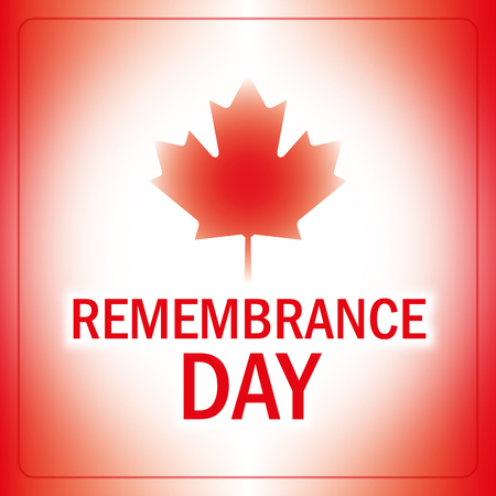 remembrance day: remembrance day canada banner abstract canadian flag background vector Illustration