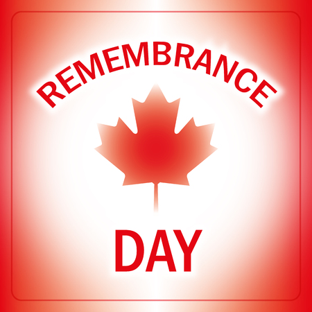 remembrance: remembrance day canada banner abstract canadian flag background vector Illustration