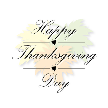 happy thanksgiving: happy thanksgiving day card vector maple leaf background