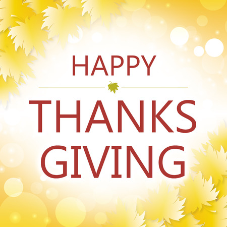 thanksgiving card: happy thanksgiving day card maple leaf background