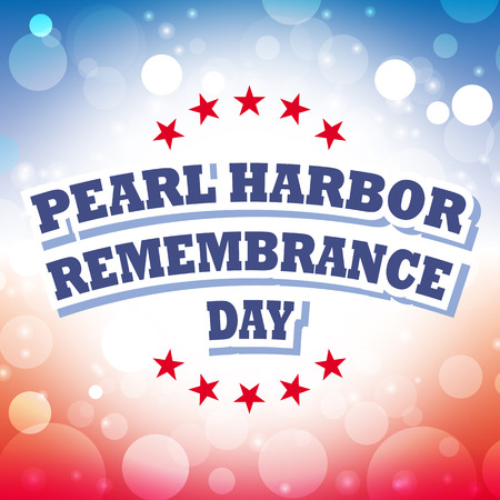 remembrance day: pearl harbor remembrance day card vector on celebration background