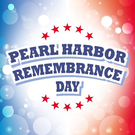 pearl harbor: pearl harbor remembrance day card vector on celebration background