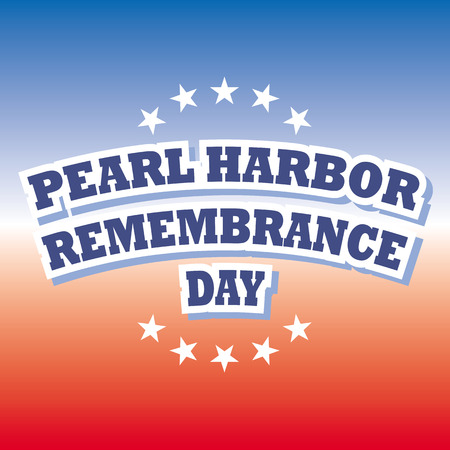 pearl harbor remembrance day banner vector