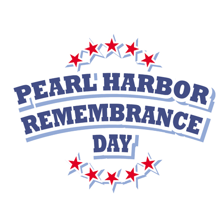 pearl harbor remembrance day sign vector