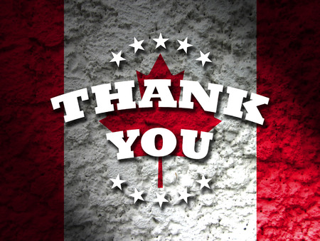 canada: canada thank you banner canadian flag abstract grunge background