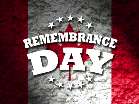 remembrance day: remembrance day canada banner canadian flag abstract grunge background