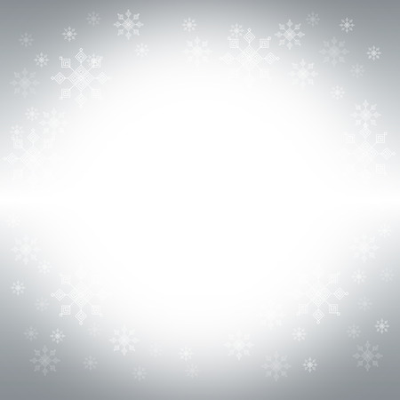 silver christmas: silver christmas background with snowflakes vector