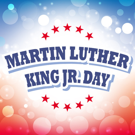martin: america martin luther king jr day card vector Illustration