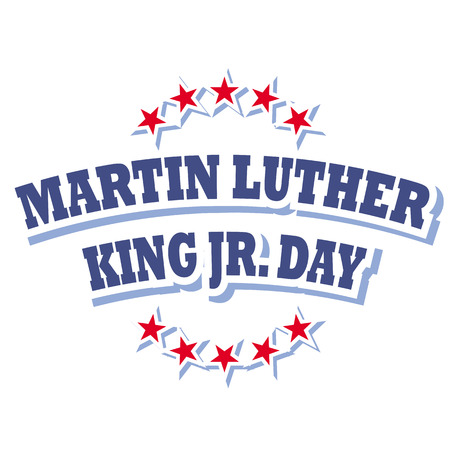 jr: america martin luther king jr day sign vector isolated on white background