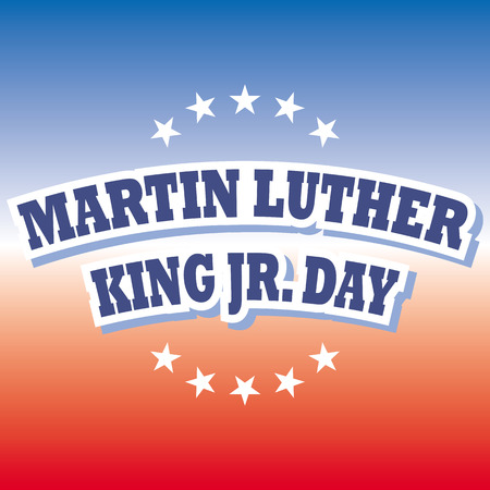 martin: america martin luther king jr day banner vector Illustration
