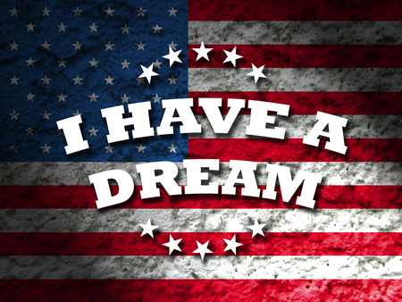 jr: america i have a dream card american flag grunge background