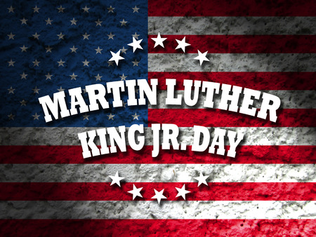 america martin luther king jr day card american flag grunge background