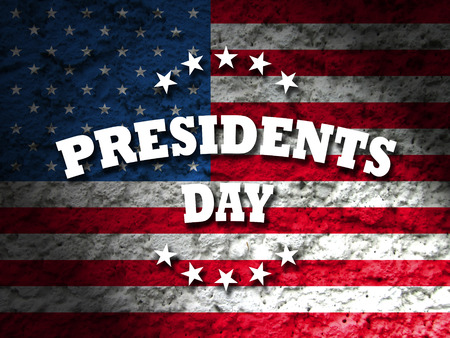 president's: america presidents day card american flag grunge background