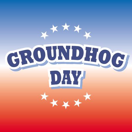 groundhog: groundhog day banner vector