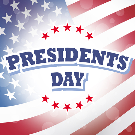 america presidents day banner american flag background Stock Photo