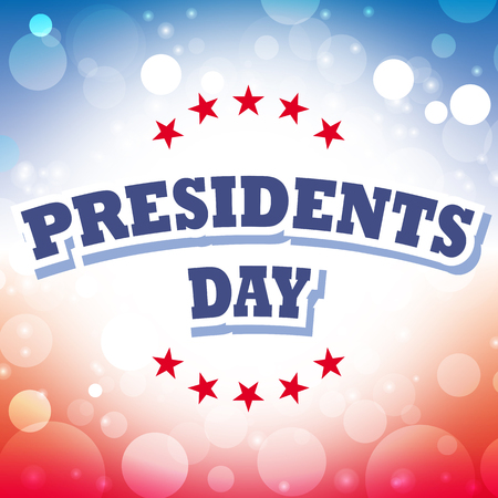 president's: america presidents day card vector on celebration background