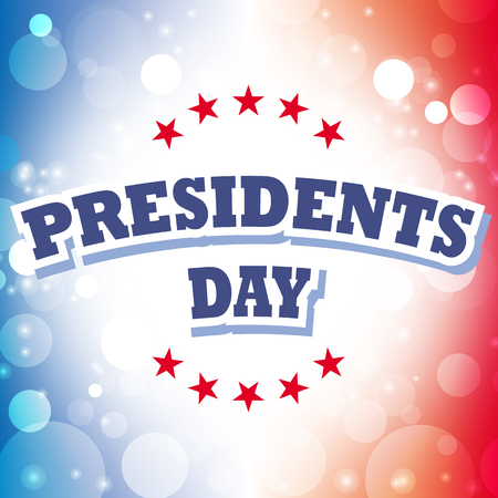 president's day: america presidents day card vector on celebration background