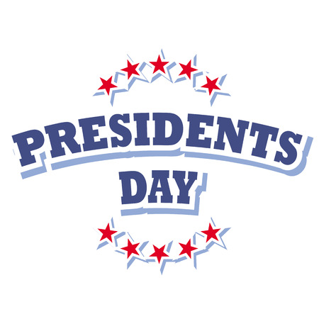 america presidents day sign vector isolated on white background