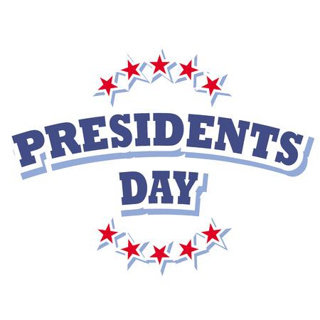 ameryka prezydentów dzień znak wektora wyizolowanych na białym tle Ilustracje wektorowe