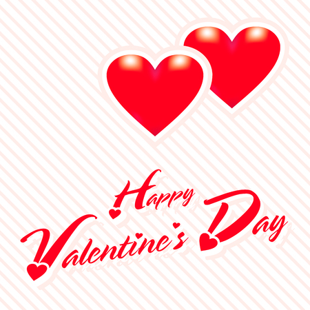 valentines day: happy valentines day greeting card vector with red heart Illustration