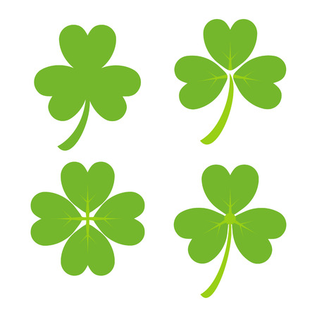 st patricks party: Set of Green Shamrock Symbols and Icon Irish Vector illustration. Design for St. Patricks Day Illustration