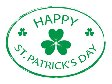 Green Clover leaf element stamp for Happy St. Patricks Day
