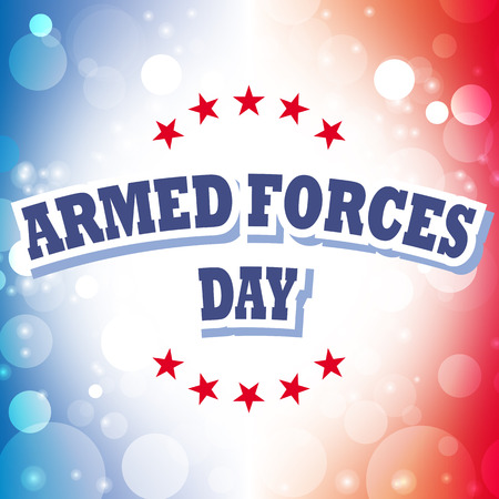 armed: armed forces day banner on celebration background 2 Illustration