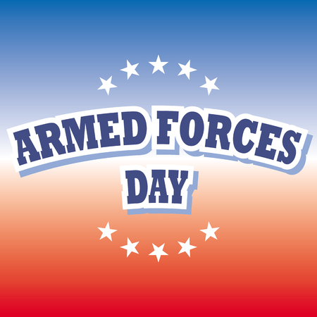 armed forces: armed forces day banner on red and blue background