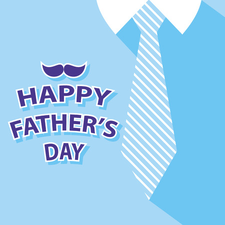 blue shirt: happy fathers day card on tie and blue shirt background 2