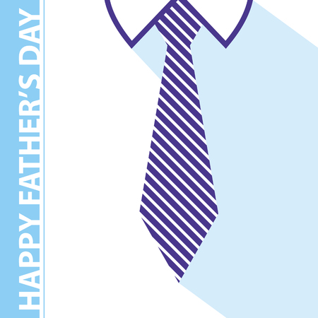 white shirt: happy fathers day card on tie and white shirt background Illustration