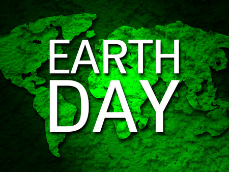 global environment: earth day banner green earth map background 1 Stock Photo